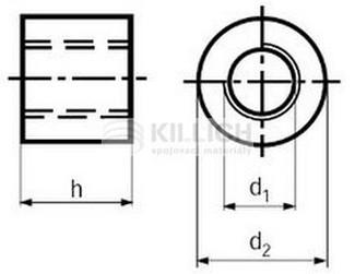 matice M10x30 ZINEK trubková spojovací