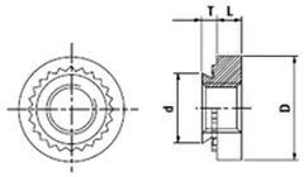 matice M10-1 ZINEK Fe-ocel lisovací