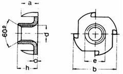 matice M4x6 ZINEK narážecí DIN 1624