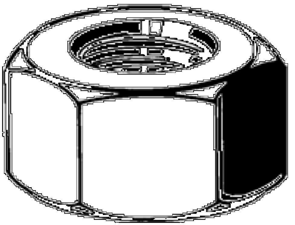 matice 1/4-20 UNC ZINEK /8/ přesná šestihranná DIN 934
