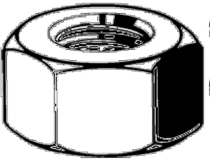 matice 1/2-20 UNF ZINEK /8/ přesná šestihranná DIN 934