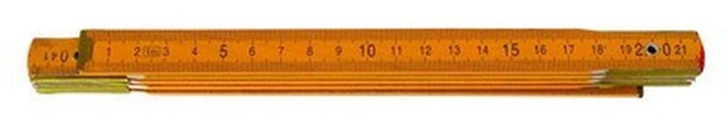 metr 1m skládací žlutý