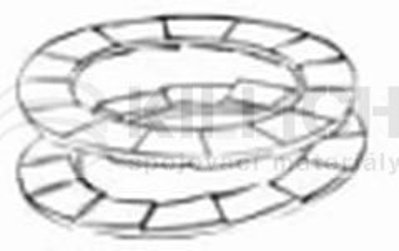 nordlock 10.7x16.6x2.5 Delta Protekt NL antivibrační podložka pro DIN 912