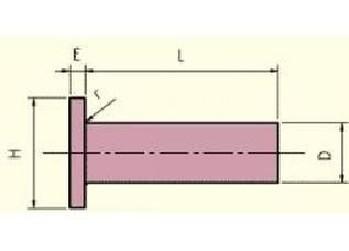 nýt 5x10 Al-hliník plochá hlava DIN 7338A
