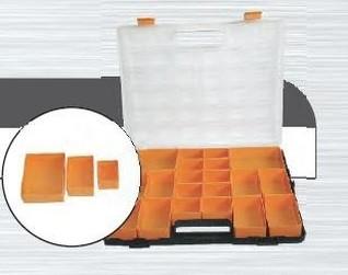 organizér plastový 37x31x4cm s vyjímatelnými boxy