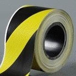 páska 50x66 žluto-černá PRAVÁ lepící výstražná