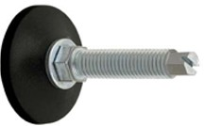 plastová noha M12x100 patka 48mm členěná nastavitelná nožička