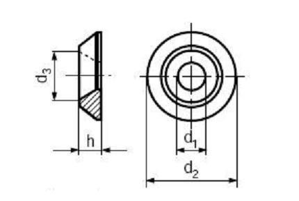 podložka 6.4x18x3.3 HLINÍK rozeta BN 603