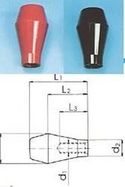 plastová rukojeť M10 červená 14090226