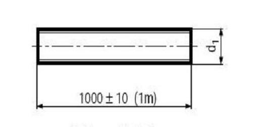 plastová závitová tyč M5 polyamid 6.6 DIN 975