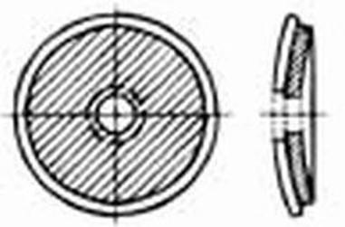 podložka 7x16 Hliník+guma černá