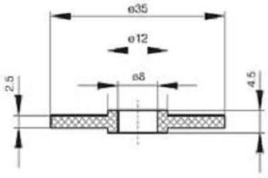 podložka 8x35 PVC gumová těsnící pro střešní krytinu V11