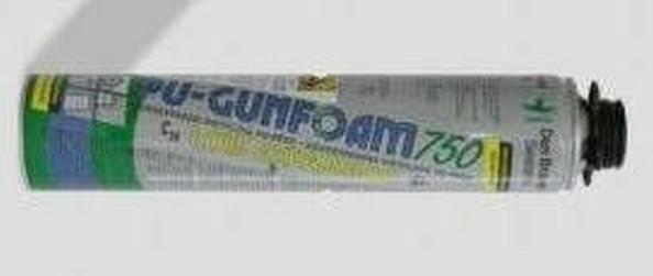 pu pěna Gunfoam 750ml nízkoexpanzní pistolová