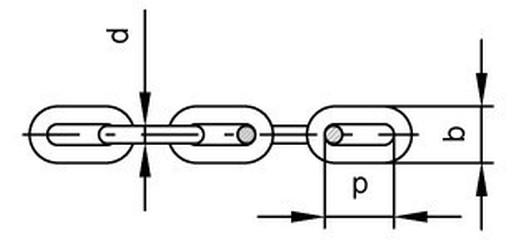řetěz 4x19/50m ZINEK krátké oko DIN 5685A