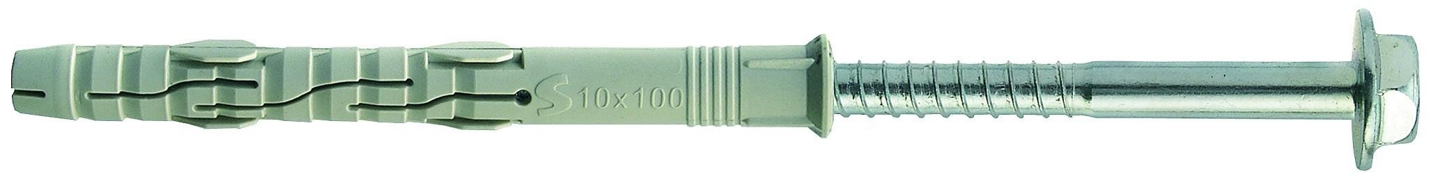 hmoždinka 10x80 RMST rámová + vrut 6hranná hlava s límcem torx, ETA-CE