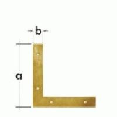 rohovník 75x75x2 šíře 12mm ŽLUTÝ ZINEK NA7