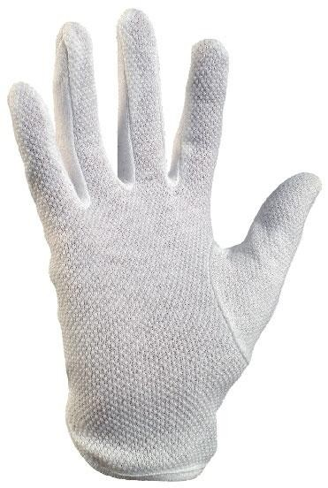 Rukavice MAWA bavlněné bílé s terč. vel.9