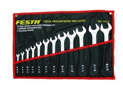 klíče sada 25ks očkoploché 6-32mm FESTA