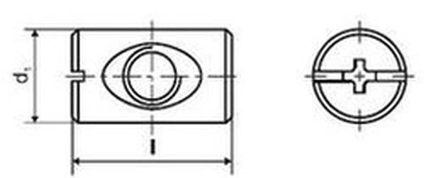 spojovací článek M10x16x25 BÍLÝ ZINEK otvor v ose, na drážku