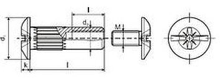 spojovací článek M4x30 BRONZ matice + šroub