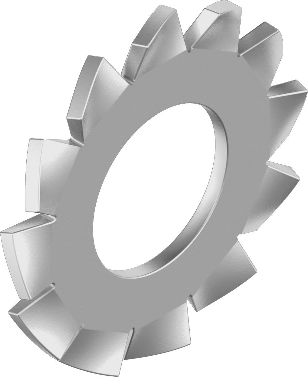 podložka M10 pr.10.5x18x0.9 A4 NEREZ vějířová vnější ozubení DIN 6798A