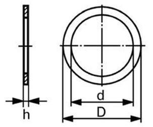 těsnící kroužek 33x41x2.0 Cu-měď DIN 7603
