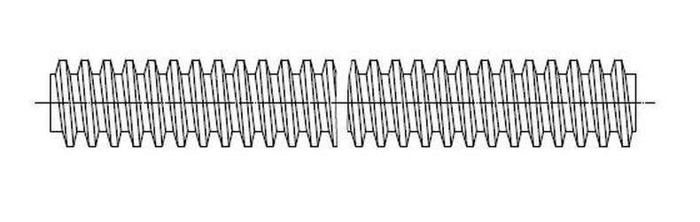 závitová tyč 10x3x1000 trapézová mat. C15 BEZ PÚ