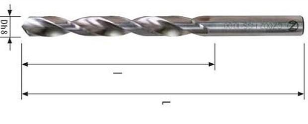 vrták 3.30 RCZ004 HSSCo5 kobaltový DIN 338 mater.A2+Fe