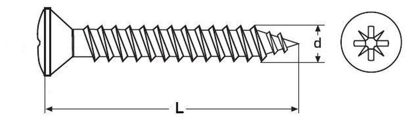 vrut 3.0x35 BÍLÝ ZINEK, čočková hlava, křížová drážka