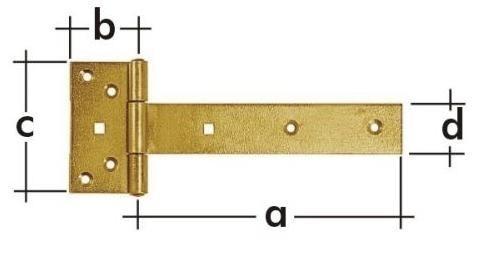 ZB 200 Závěs brankový 200x45x90x35x3.0mm