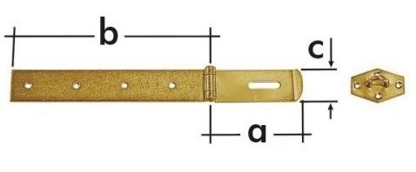 ZZP 200 Závěs zamykací jednoduchý 290x35x2.5mm
