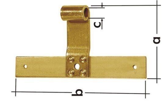 ZRP 200 d.13 Závěs křížový jednoduchý 200mm d.13mm
