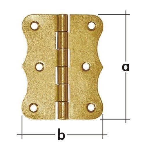 Z 80x Závěs stavební ozdobný 80x63x1.5mm