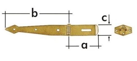 ZZB 300 Závěs zamykací brankový pásový 300x2.5mm