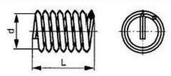 závitová vložka M10x1.5x10 1.0d A2 NEREZ DIN 8140 Helicoil