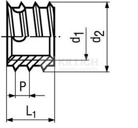 závitová vložka M8x12x9 Typ 307 BN 905